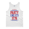 Party Like It's 1776 - 4th of July Unisex Tank Top.