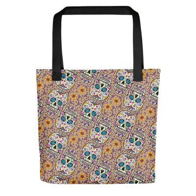 Sugar Skulll Day of The Dead GREY Tote bag