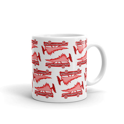 Christmas Griswald Stationwagon with Tree Mug