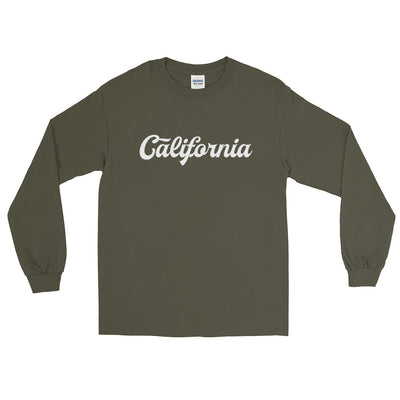 California Script Distressed Long Sleeve T-Shirt