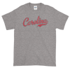Carolina Script Distressed Garnet Short sleeve t-shirt