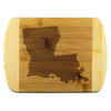 Louisana State Shape Bamboo Cutting Board