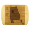 Alabama AL State Shape Bamboo Cutting Board