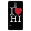 I Love Hawaii Phone Case Black