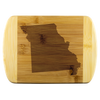 Missouri State Shape Bamboo Cutting Board
