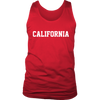 California Jersey Font Mens Tank