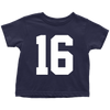 Team Jersey 16 Toddler T-Shirt