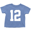 Team Jersey 12 Toddler T-Shirt
