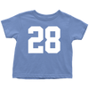 Team Jersey 28 Toddler T-Shirt