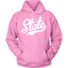 State Script Font White Hoodie