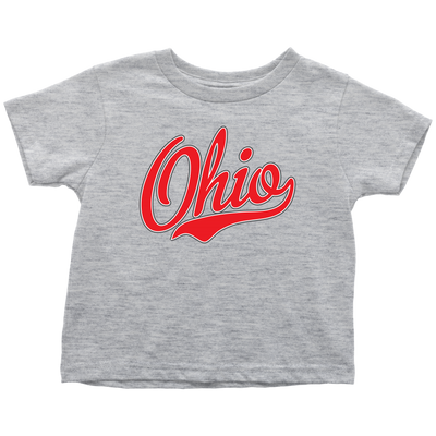 Ohio Script Font Red Toddler T-Shirt