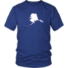 Alaska State Shape Outline T-Shirt