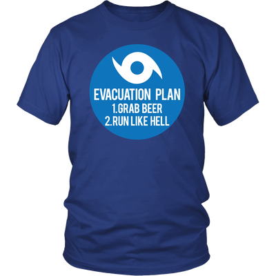 Hurricane Evacuation Plan Unisex Shirt