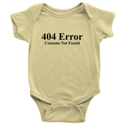 Halloween 404 Error Costume Not Found! Halloween Baby Onesie