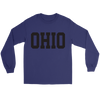 Ohio Jersey Font Black Long Sleeve Tee
