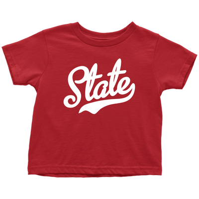 State Script Font White Toddler T-Shirt