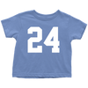 Team Jersey 24 Toddler T-Shirt