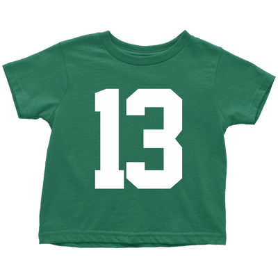 Team Jersey 13 Toddler T-Shirt