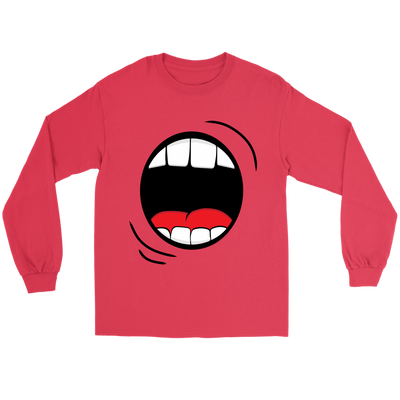 Halloween Monster Mouth Halloween Long Sleeve T-Shirt