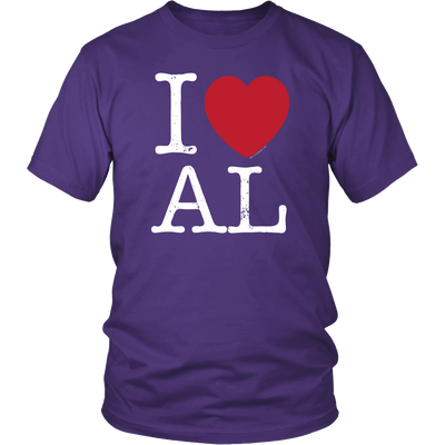 I Love Alabama Dark T-Shirt