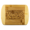 Kansas Organic Bamboo Wood Cutting Board