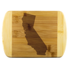 California State Shape Bamboo Cutting Board