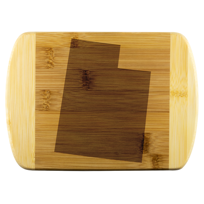 Utah State Shape Bamboo Cutting Board