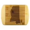Mississippi State Shape Bamboo Cutting Board