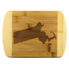 Massachusetts State Shape Bamboo Cutting Board