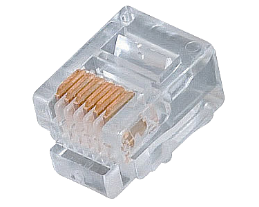 Connector - 6-Pin RJ-12 Modular Plug