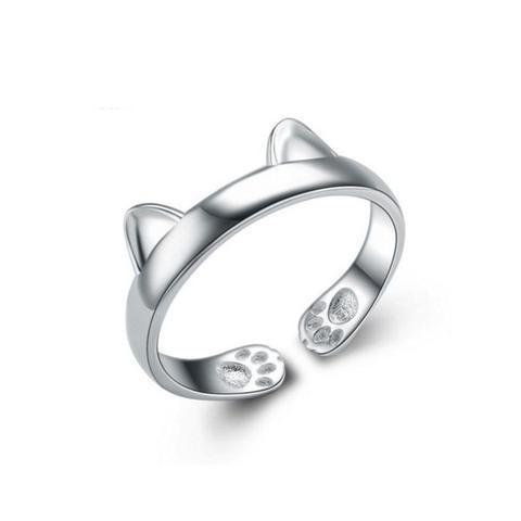 A Silver Plated Cat Ear Ring - FREE for a limited time