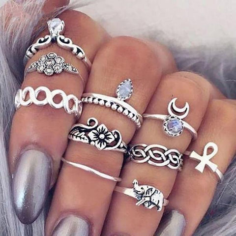 Womens Elephant design finger ring set - FREE for a limited time.