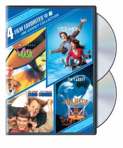 Jim Carrey Collection - 4 Films: Dumb & Dumber, Mask, Yes Man, Majestic - DVD