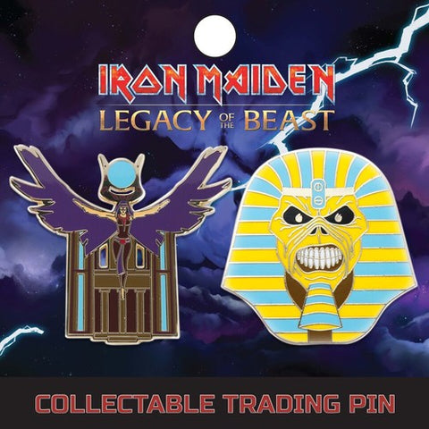 Iron Maiden - Pharaoh And Aset - Lapel Pin Badge Set