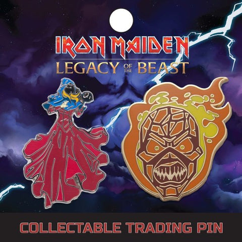 Iron Maiden - Clairvoyant And Wicker Man - Lapel Pin Badge Set