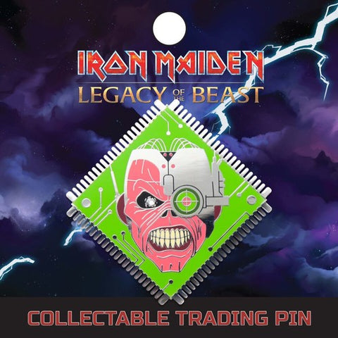 Iron Maiden - Cyborg Eddie - Lapel Pin Badge