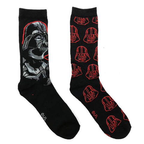 Star Wars - Darth Vader - Casual Crew - Unisex Men's 6-12 - 2 Pair 2PK - Socks
