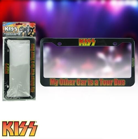 KISS - My Other Car Is A Tour Bus - License Plate Frame