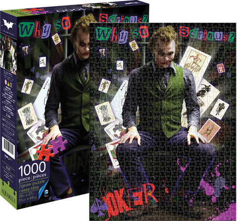 Dark Knight - Heath Ledger - Joker - 1,000pc - Boxed - Puzzle