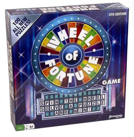 Wheel Of Fortune - 4th Ed. - Spin, Solve & Win! - Board Game