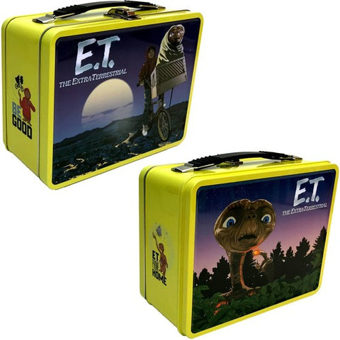 E.T. - Retro Style - Tin Tote - Lunch Box