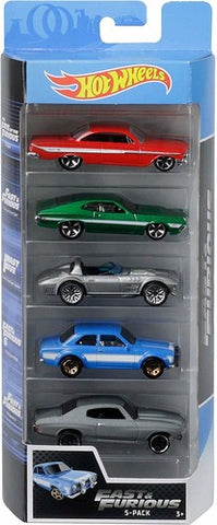 Fast & Furious - Hot Wheels - Mattel - 5 Pack - Scale - Die Cast