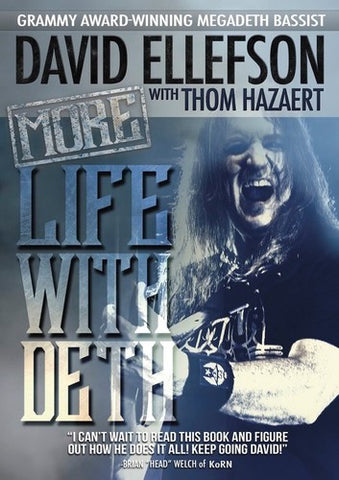 Megadeth - More Life With Deth - David Ellefson - Book