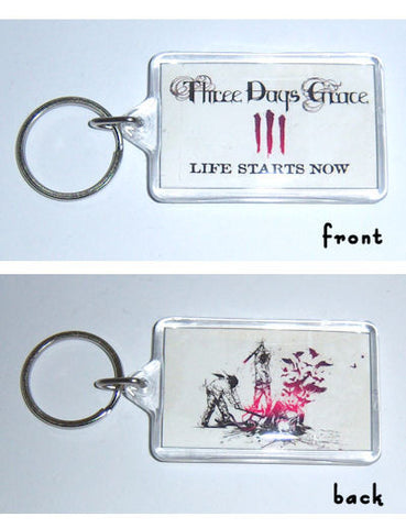 Three Days Grace - Life Starts Keychain