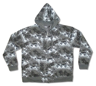 AC/DC - Cannons All Over Print Zip Up Hoodie