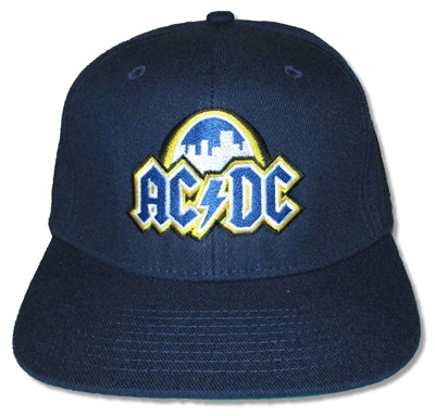 AC/DC - Navy Logo Snap Back Hat