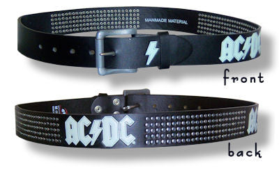 AC/DC - Studded Leather Belt