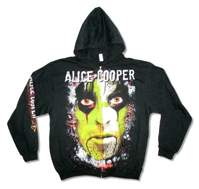 Alice Cooper - Green Face All Over Print Zip Hoodie