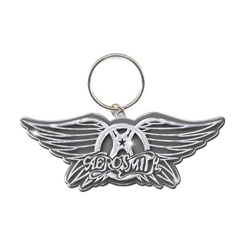 Aerosmith - Metal Wings Logo Keychain (UK Import)