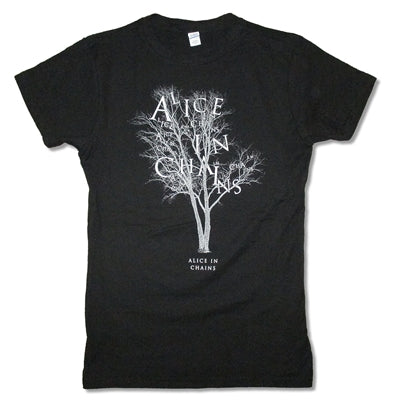 Alice In Chains - Letter Tree 30/1 Juniors Girly Baby Doll Tee